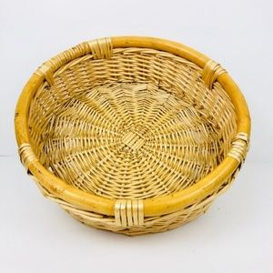 Other - Large Wicker Willow Round Basket